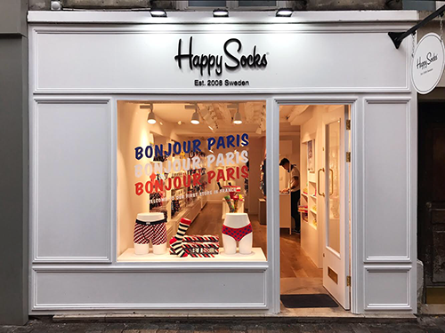 Paris Shopfitters Happy Socks Sweden Store Install