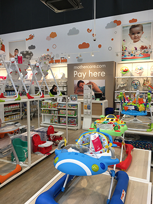 mothercare shop fitting layout installed