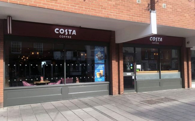 Costa Coffee Shopfront Fitters Designers